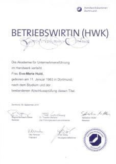 Betriebswirtin-HWK