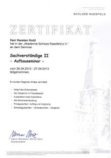 Zertifikat-Sachverständiget